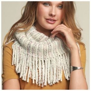 Ivory fringe scarf